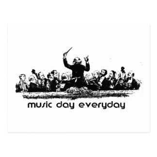 ¡Diseño de la orquesta para el día de la música! Postal