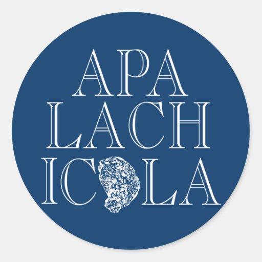 Diseño de la ostra de Apalachicola la Florida Pegatina Redonda