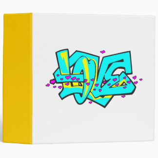 Diseño de la palabra del AMOR del graffit de CMYK