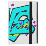 Diseño de la palabra del AMOR del graffit de CMYK iPad Mini Fundas