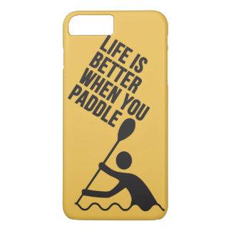 Diseño de la paleta de la canoa del kajak funda iPhone 7 plus