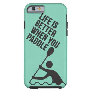 Diseño de la paleta de la canoa del kajak funda resistente iPhone 6