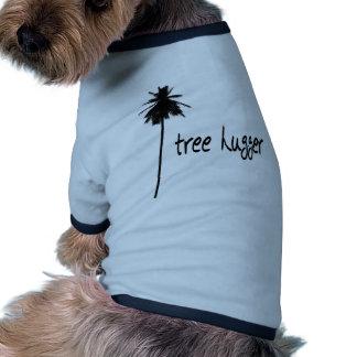 ¡Diseño de la palma de Hugger del árbol! Camisas De Perritos