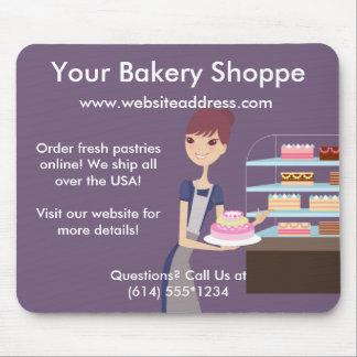 Diseño de la panadería/de la tienda de pasteles 4 tapete de raton
