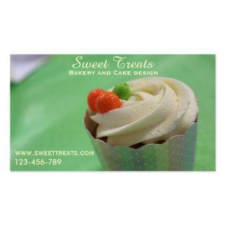 Diseño de la panadería y de la torta, invitaciones tarjetas de visita