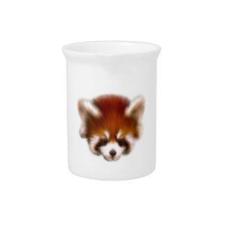 Diseño de la panda roja jarras de beber