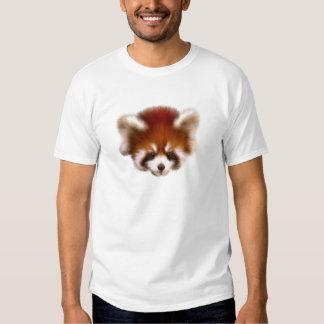 Diseño de la panda roja poleras