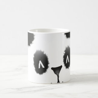 diseño de la panda tazas de café