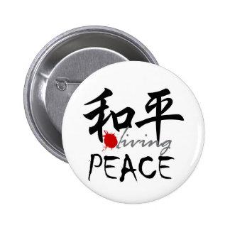 Diseño de la paz de Zenz Pin Redondo 5 Cm