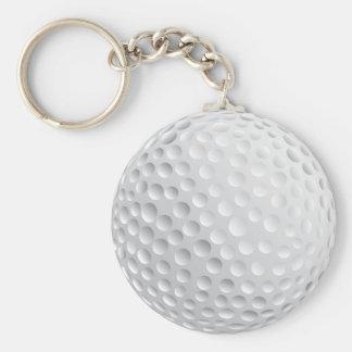 Diseño de la pelota de golf llavero redondo tipo pin