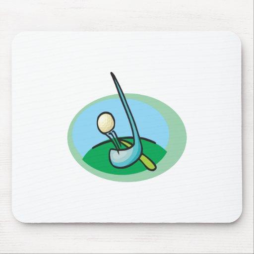 Diseño de la pelota de golf y del club alfombrillas de ratones