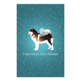 Diseño de la pérdida del mascota del Malamute de Papeleria De Diseño