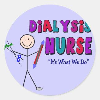 Diseño de la persona del palillo de la enfermera d etiqueta