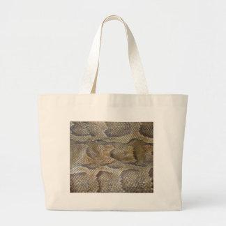 Diseño de la piel de serpiente bolsa lienzo