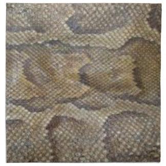 Diseño de la piel de serpiente servilleta