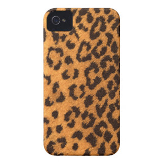 Diseño de la piel del leopardo iPhone 4 carcasas