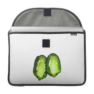 Diseño de la pimienta verde de las mitades de la p funda para macbook pro