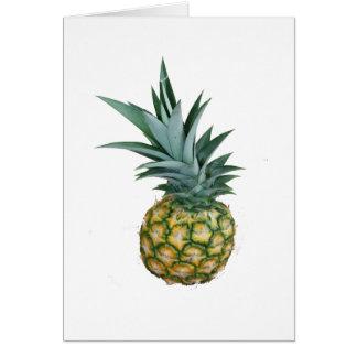 Diseño de la piña, fotografía real de cosecha prop tarjeta de felicitación