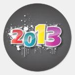 Diseño de la pintada 2013 etiqueta redonda