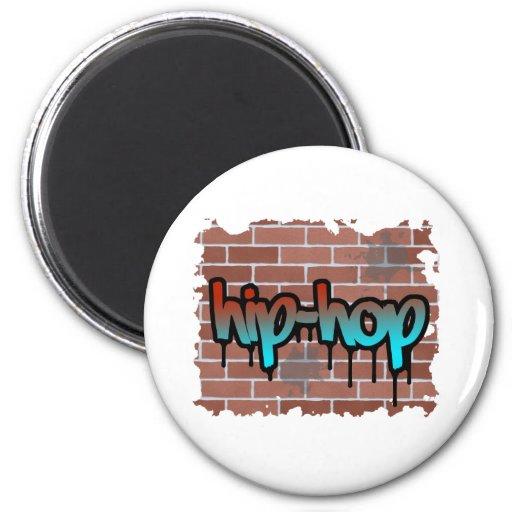 diseño de la pintada del hip-hop imán redondo 5 cm
