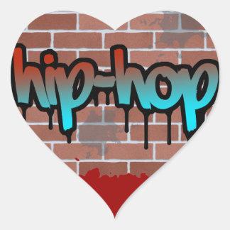 diseño de la pintada del hip-hop calcomanía corazón personalizadas