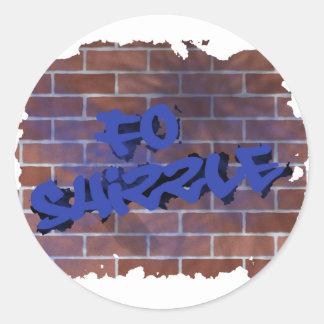 diseño de la pintada del shizzle de las FO Etiqueta Redonda