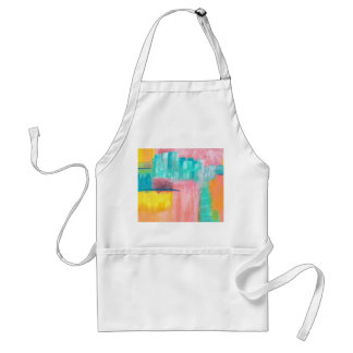 Diseño de la pintura del arte abstracto de delantal
