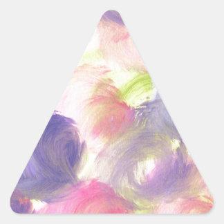 Diseño de la pintura original pegatina triangular