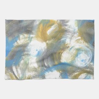 Diseño de la pintura original toalla de mano