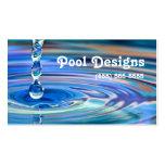 Diseño de la piscina de los descensos claros del a plantillas de tarjetas de visita