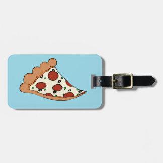Diseño de la pizza etiqueta para maleta