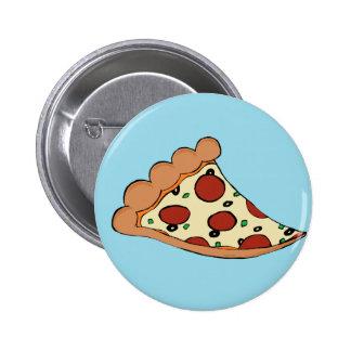 Diseño de la pizza pin redondo 5 cm