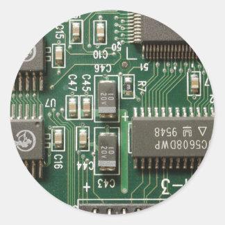 Diseño de la placa de circuito etiqueta redonda