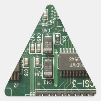 Diseño de la placa de circuito calcomania de triangulo