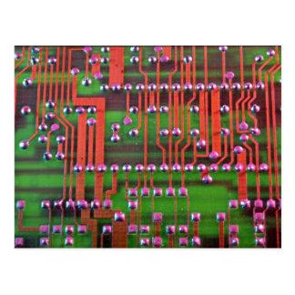 Diseño de la placa de circuito tarjeta postal