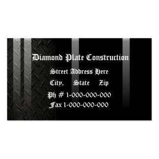 Diseño de la placa del diamante tarjetas de visita