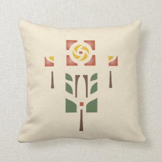 """""""Diseño de la plantilla del rosa de té"""" Almohadas"""
