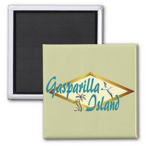 Diseño de la playa de la Florida de la isla de Gas Imanes De Nevera