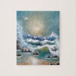 Diseño de la playa de la gaviota puzzles con fotos