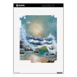 Diseño de la playa de la gaviota iPad 2 calcomanías