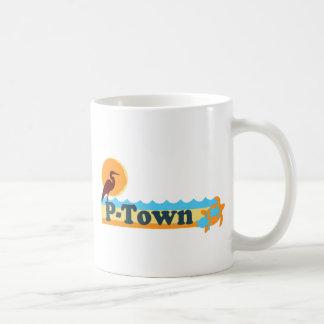 """Diseño de la """"playa"""" de Provincetown Taza Clásica"""