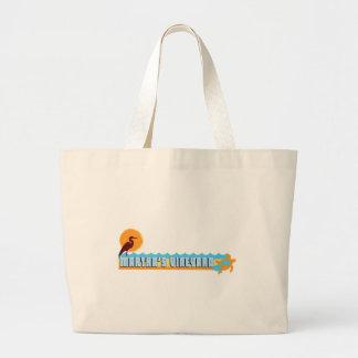 "Diseño de la ""playa"" del Martha's Vineyard Bolsa Tela Grande"