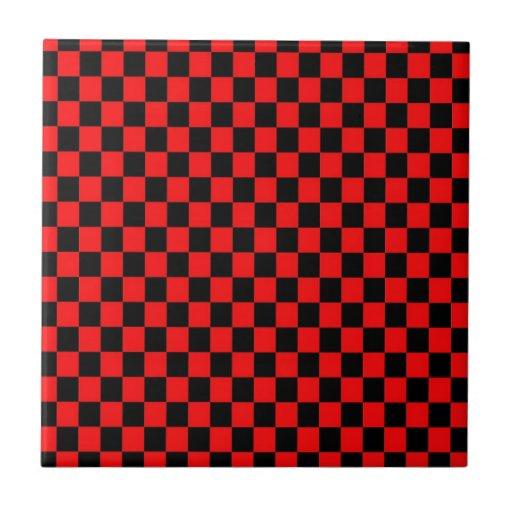Diseño de la Plaza negra y Roja Azulejos Ceramicos