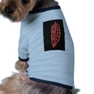 Diseño de la pluma de Eagle Camiseta De Perro