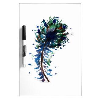 Diseño de la pluma del pavo real del Watercolour Pizarra Blanca