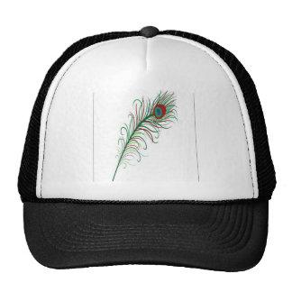 Diseño de la pluma del pavo real gorros bordados