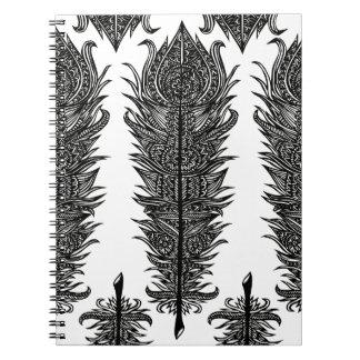 Diseño de la pluma del zen libros de apuntes