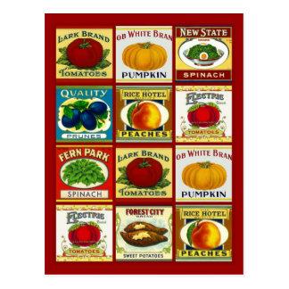 Diseño de la postal de la tarjeta de la receta par