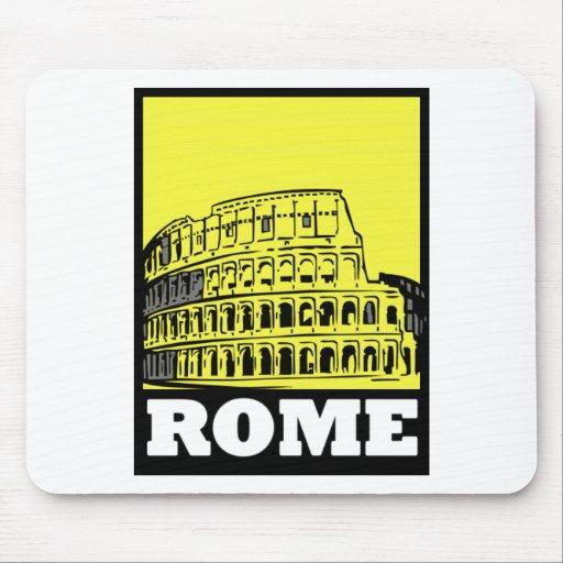 Diseño de la postal de Roma Tapete De Ratones