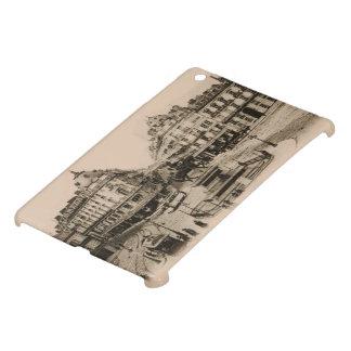 Diseño de la postal del centro de ciudad de Le